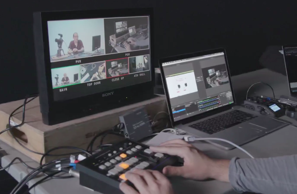 Live streaming single and multi-camera setups are reviewed in this video